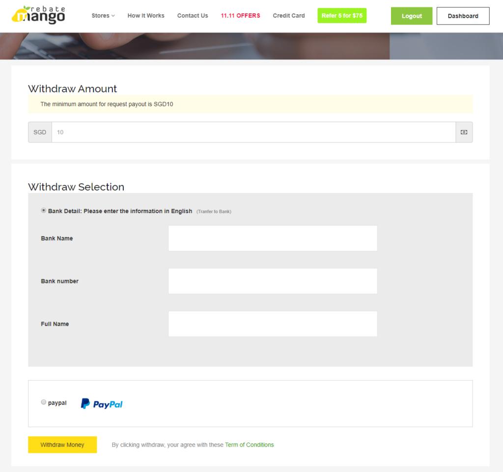 Rebate Mango 登録方法
